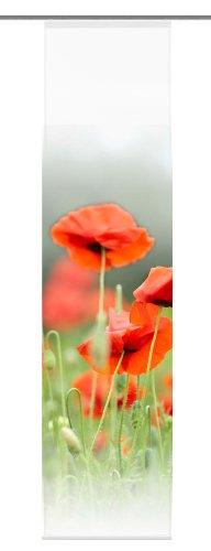 Home Fashion 86049-707 Schiebevorhang Digitaldruck Antwerpen, rot / 245 x 60 cm Dekostoff-Seidenoptik