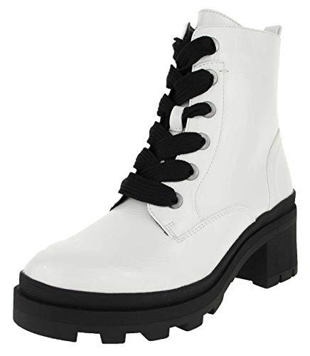 bugatti Damen 431774315700 Stiefeletten Kurzschaft Stiefel , Weiß (Offwhite 2100) , 40 EU