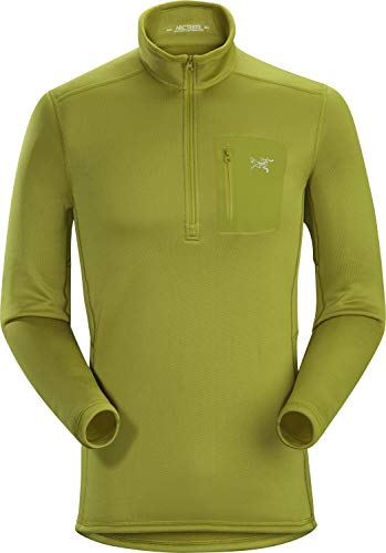 Arcteryx Rho Ar Zip Neck Men's T-shirt XL Olive Ambre