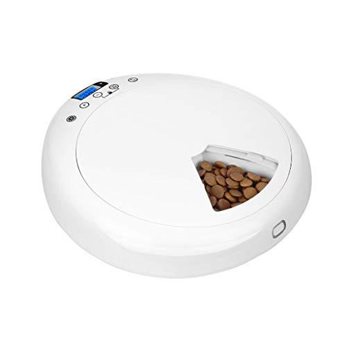 Comedero automático para mascotas Control de porciones Reloj digital casero programado 6 bandejas de comida Dispensador de alimentos temporizado Pantalla LCD universal Alimentadores automáticos for ma