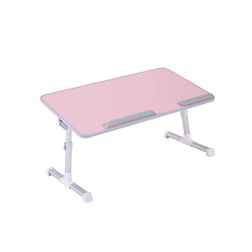 GWFVA Laptop-Bett-Tisch, Verstellbarer, Faltbarer Frühstückstablett, tragbarer Schoß, stehender Schreibtisch, für Notebook-Ständer, Lesehalter, Kindercouch, Sofaboden (Farbe: Rosa)