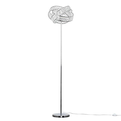 Modern Polished Chrome & Clear Acrylic Jewel Intertwined Rings Design Floor Lamp - Complete with a 6w LED GLS Bulb [3000K Warm White]