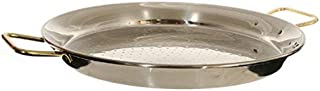 Garcima 20-Inch Stainless Steel Paella Pan, 50cm, Large, Silver