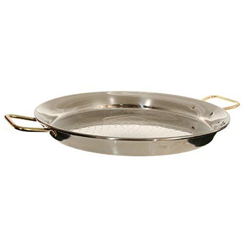 La Ideal Paella Sartén de Acero Inoxidable, Plata, 50 cm