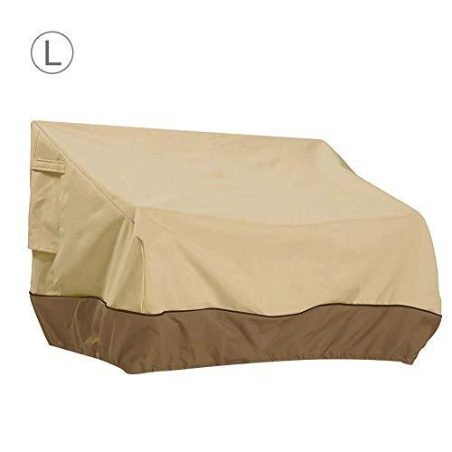 Dough.Q Funda de sofá elástica, para Muebles de jardín, Cubierta para Exterior, Funda para Asiento de sofá, Impermeable, Resistente al Polvo, Resistente a los Rayos UV – S/M/L, Large