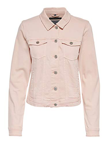 ONLY Damen ONLTIA DNM Jacket BB Box CRFCOLOUR Jeansjacke, Cameo Rose, 40
