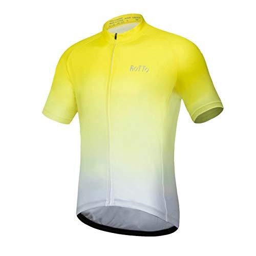 ROTTO Maillot Ciclismo Hombre Camiseta Ciclismo Manga Corta