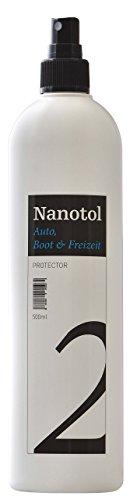 Nanotol Auto, Boot, Freizeit Protector 500 ml (80 m²) - Nanoversiegelung (Step 2) für Lack, Felgen, Autoglas - Glanzversiegelung Lackpflege Lotuseffekt Keramik-Polymer-Hybrid-Beschichtung