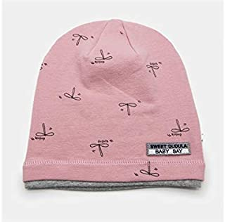 Baby Decoration Hat Infant Printed Hedging Cap Baby Autumn Warm Cap Newborn Sleeping Hat for 0-3 Years Old(Pink) Cute Cap (Color : Pink, Size : Head Circumference)