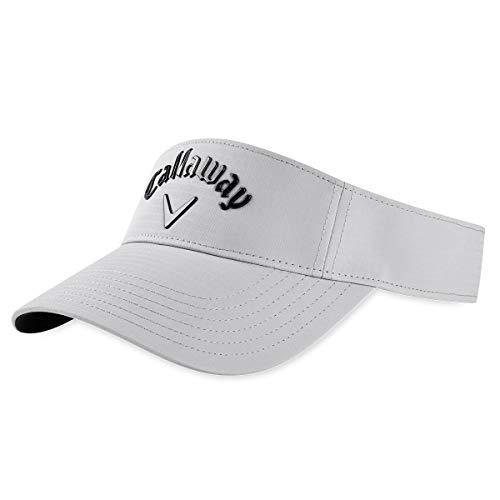 Callaway mens Golf 2020 Liquid Metal Adjustable Visor Silver