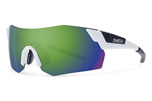 Smith Optics Pivlock Arena Max Chromapop Sunglasses, Matte White, Green