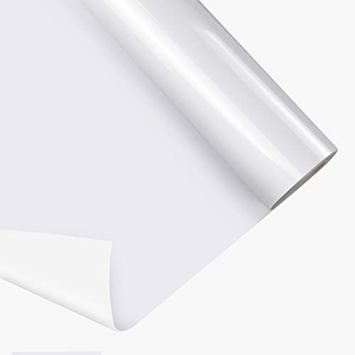 JANDJPACKAGING White Iron on Vinyl Roll 12 x 30FT -HTV Heat Transfer Vinyl for Silhouette and Cricut White HTV Vinyl Roll