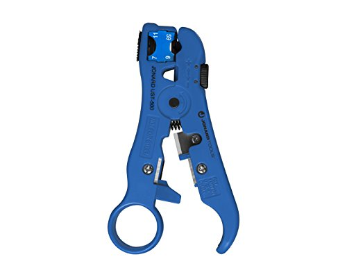 Jonard Tools UST-525 Universal Cable Stripping Tool with Cable Stop for Coax, Network, and Telephone Cables