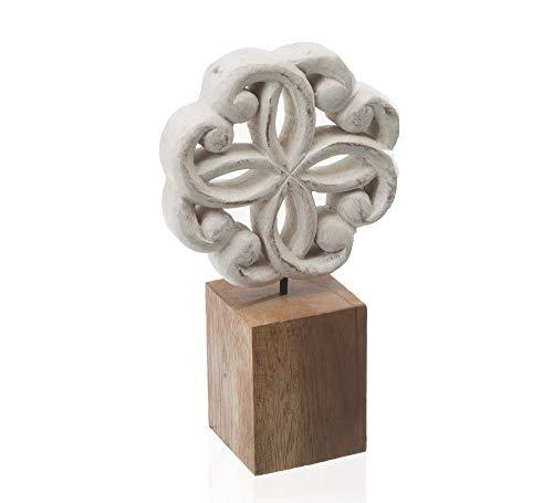 Escultura Oriental Mystic Etna Branco/marrom
