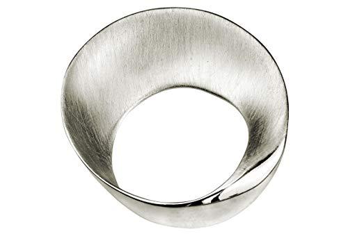 SILBERMOOS Damen Anhänger Schale Kreis rund offen matt 925 Sterling Silber/Kette optional