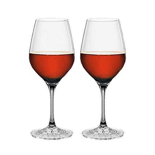 LICHUAN Copas de vino de cristal de estilo italiano sopladas a mano, sin plomo, cristal transparente, juego de 2 unidades, caja de regalo para cualquier ocasión copas de vino
