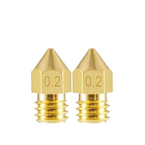 DFVVR Home & Garden, 3D printer accessories Mk8 brass nozzle tip caliber 0.2mm Nozzle, Tools & Home Improvement (A)