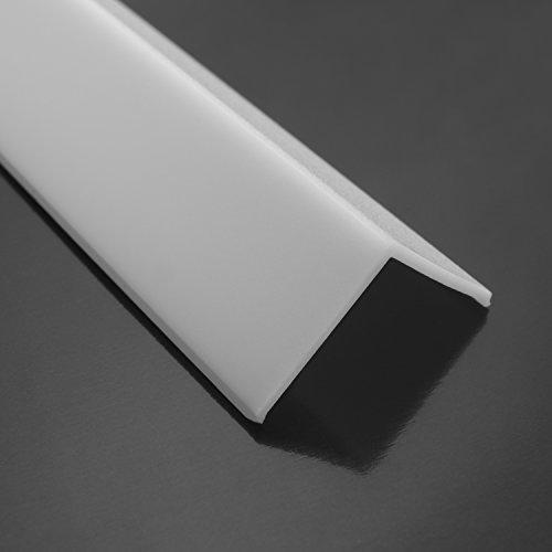 Nur LED Abdeckung für das Aluprofil Ecke 90 - Opal 200 cm