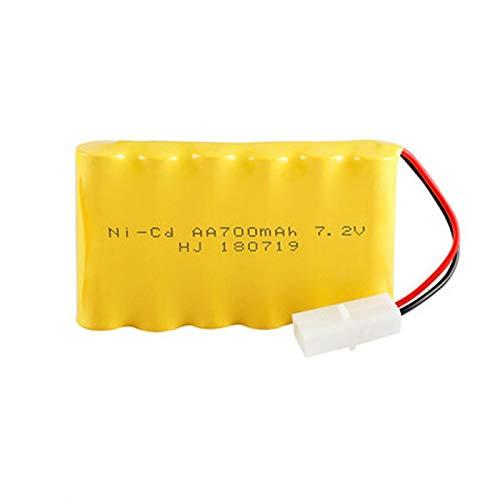 Batería Ni-CD de 7,2 v 700 mah + Cargador de 7,2 v para Piezas de Barco de Juguete RC NICD Paquete de batería Recargable de 7,2 v para Pistola de Tren de camión RC Blue