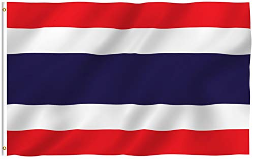 Anley Fly Breeze 3x5 Fuß Thailand Flagge - Lebendige Farbe und UV-beständig - Canvas Header und doppelt genäht - Thai Nationalflaggen Polyester mit Messingösen 3 X 5 Ft