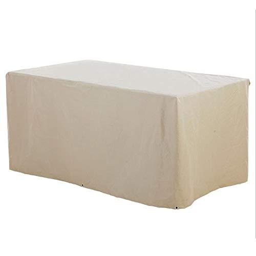LH-RUG Cubierta de Muebles de Jardín, Fundas de Muebles Impermeable Resistente al Polvo Anti-UV Protección, Exterior Muebles de Jardín Cubiertas de Mesa y Silla (Color : Beige, Size : 100x100x85cm)