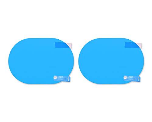 SCSpecial Auto Seitenspiegel wasserfeste Anti-Fog-Folie - Blendschutz Anti-Beschlag-Aufkleber - Um Außenspiegel klar in regnerischen Tagen zu sehen (oval)