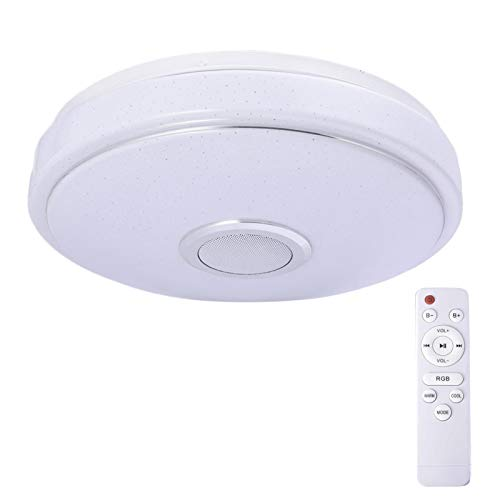 danio Lámpara de techo con reproductor de música, mando a distancia, 220 V, RGB, cambio de color para cocina, salón, dormitorio