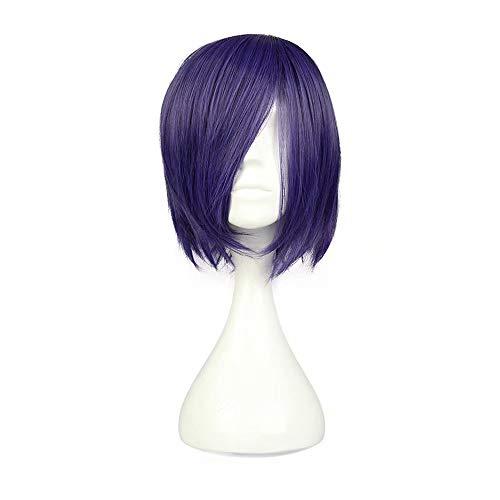 NiceLisa Mädchen Kurze Gerade Lila Hohe Qualität Tokyo Ghoul Touka Kirishima Anime Convention Fan Kostüme Verkleidung Cosplay Perücke
