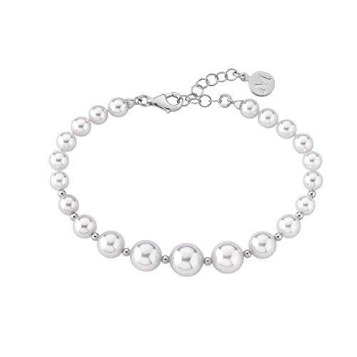 Marrimpouey 14709.01.2.000.010.1 - Pulsera de plata con perla (20 cm)