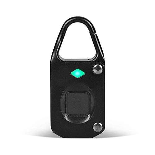 JJZXT Fingerprint Padlock Smart Keyless Security Lock IP65 Waterproof Anti-Theft USB Rechargeable Suitable for School Locker, Gym, Door, Cabinet, Suitcase