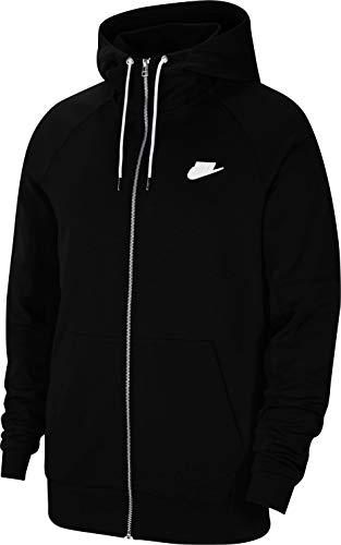 Nike Herren Sportswear Modern Hoodie Mit Durchgehendem Reißverschluss, Black/Ice Silver/White/White, L