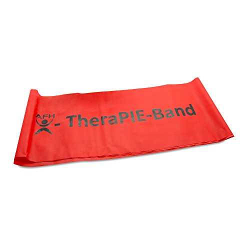 AFH-Webshop Therapie Band | Übungsband | Fitnessband | Trainingsband | Circa 2 m | Widerstand: mittel | rot, 200 x 15 cm