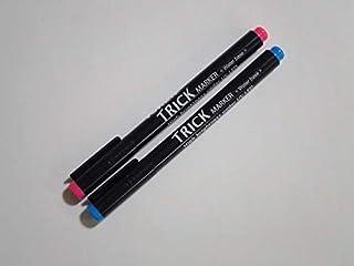 【中字/赤・青 各1本】ブラックライトペン トリックマーカー※ブラックライトは付属しておりません※他にはない発光輝度のシークレットペン 暗証番号管理 商品管理