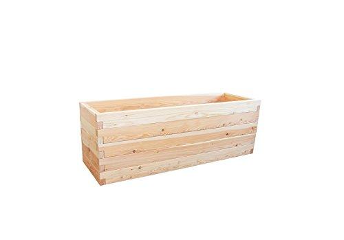 Gartenallerlei Hochbeet LÄRCHE Größe 4 – 190,5x60,5x65 cm (LxBxH) - Das regionale und soziale Holzhochbeet