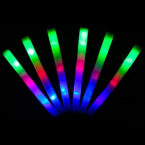 KUMUNDO - 15 Unidades - Palos led - Palos Espuma Luminosos - Palos Espuma led (Multicolor)