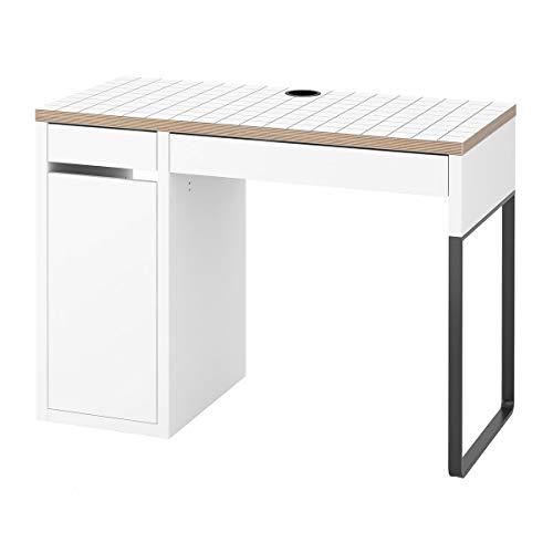 Escritorio IKEA MICKE 105x50x75 cm blanco/antracita