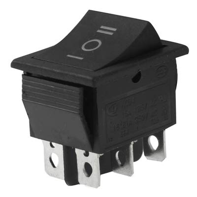 GUPENG Interruptores de botón eléctricos para automóviles Interruptor de DIY ON-Off-ON Rocker for Racing Sport (5pcs)