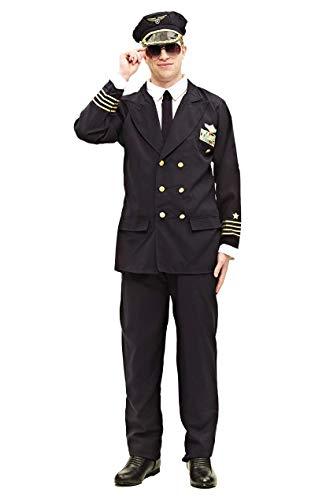 ORION COSTUMES Herren Flugkapitänsuniform Maskenkostüm