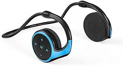 Levin Bluetooth 4.2 Headphone Neck Band هدست اسپرت بی سیم هدست اسپرت ضد عرق ، Hi-fi استریو ، میکروفون داخلی ، 12 ساعت زمان پخش (آبی)