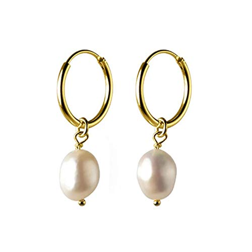 Vvff Pendientes De Aro De Perlas Irregulares Dulces De Plata Para Mujer, Joyería De Boda Para El Día De San Valentín