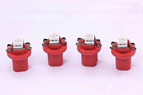 4x pinke high Power B8.5D SMD-LED Tachobeleuchtung Umbauset Plug and Play
