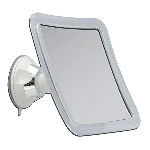 Zadro Power Suction Cup 10X Magnification Wall Mount Bathroom Makeup Grooming Mirror, White & Chrome