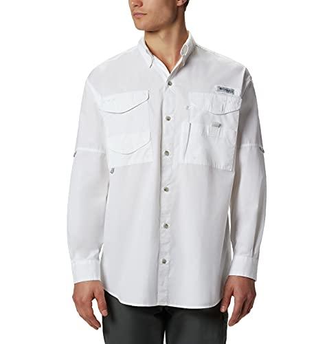 Columbia Long Sleeve Bonehead T-Shirt à Manches Longues, Blanc, XL Homme