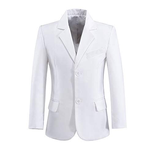 Blazer for Boys Suits First Communion Coat Dress Outfit White Size 12