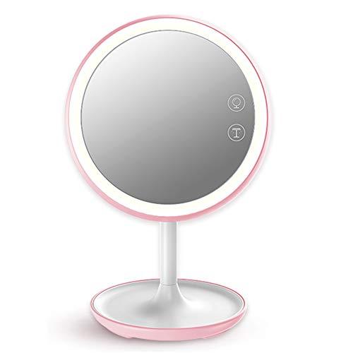 Led make-up spiegel, desktop schoonheidsspiegel met lamp, slimme desktoplamp om het hart van het meisje te verlichten