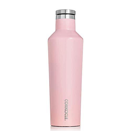 Corkcicle Botella isotérmica, Acero Inoxidable, Gloss Rose Quartz, 47 cl