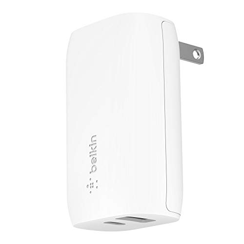 Belkin USB-C Wall Charger 30W (iPhone Fast Charger for iPhone 11, 11 Pro, 11 Pro Max, XS, XS Max, XR, X, 8, 8 Plus, iPad Pro 10.5-inch, 12.9-inch 2nd gen) (F7U097dqWHT)
