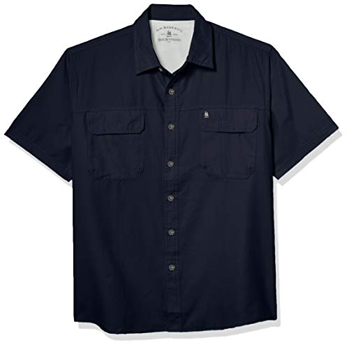 G.H. Bass & Co. Men's Explorer Point Collar Short Sleeve Fishing Shirt,...