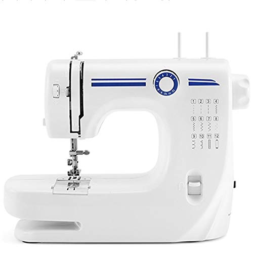 QYJX Sewing Machine-Double Needle, Extension Table Electric 12 Needles-with Pedal 10 Spools, Suitable for Home Sewing