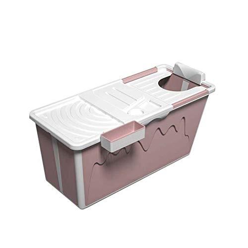 SYN-GUGAI Bañera Inflable para Adultos, bañera con función Plegable portátil, para baño Familiar, bañera de plástico Plegable y Gruesa, Sauna en casa, SPA, Piscina Inflable para niños,Pink